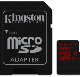 Kingston MicroSDHC/SDXC UHS-I U3 32GB (C/Adaptador)